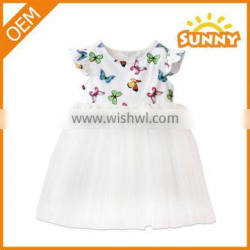 Cheap Butterfly Pattern Dress of Baby Girl Clothing