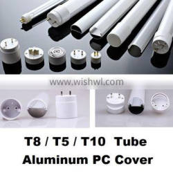 T8/PC cover and /T5 / LED Aluminum profile housing /T10/ tube lighting /LED lamp fitting/aluminum tube/pc cover