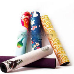 China qualtiy sweat absorbing colorful anti-slip suede rubber yoga mat sports mat for fitness