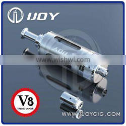 2014 New Bottom Dual Coil Rebuildable Clearomizer Ijoy V8 mega clearomizer