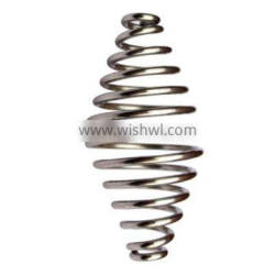 Stainless steel / chrome plated spring to form a cold handle for a hot door