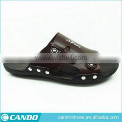 black and white soft sole slippers men
