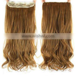 100% human hair double drawn 120g one piece clip in human hair extensions Quality Choice