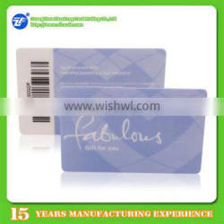 Special offer printable offset barcode keychain card