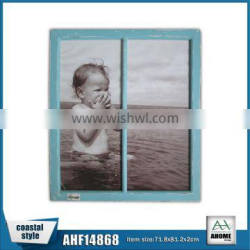 Beautiful Antique Blue Wooden Windown Picture Photo Frame,Decorative Wall Hanging Frame