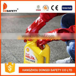DDSAFETY With 5Years Experience PVC Gloves Red PVC Smooth Finished 100%Cotton Liner