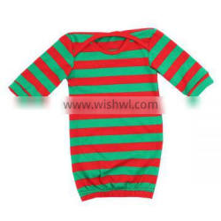 Newbown baby sleep dress long infant Christmas gowns elastic baby clothing pajamas gowns