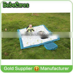 cheap high quality foldable outdoor camping pvc waterproof polar fleece picnic mat