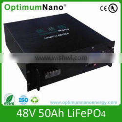Deep cycle LiFePO4 Battery CE 48v 50ah lithium battery pack