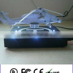 Floating aircraft model levitating plastic scale model aircraft for present