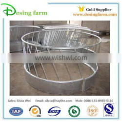 Round bale hay feeder for cattle and horse