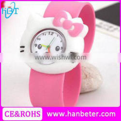 Children's favorite panda silicone slap watches for kids no buckle fancy watch bands