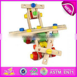 2015 DIY changeable wooden nut toy for kids,wooden blocks nut toy for children,Educational toy wooden toy nut for baby W03C004