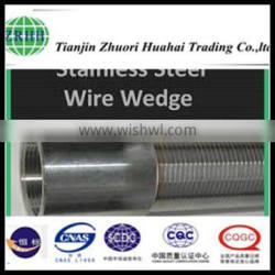 Stainless steel wedge wire open both ends screen with welded legs