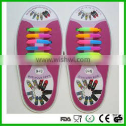 2016 hot funny cheap silicone shoelace lazy shoelaces