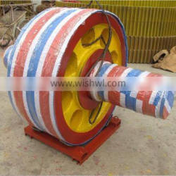 OEM steel casting support roller for cement industry