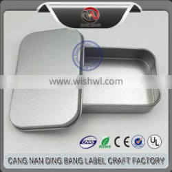 No MimmunPromotion Cheap Normal Items Frost Sliver Tin Custom Package Metal USB Box