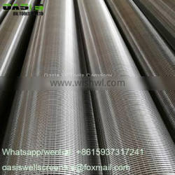 Stainless Steel 304L Continuous slot johnson type well screens for water well drilling