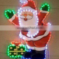 led santa father motif light