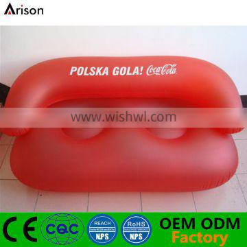 Durable cheap inflatable double sofa double chair for 2 people