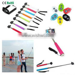 selfie stick wireless bluetooth with remote controll made in china for mobile monopod