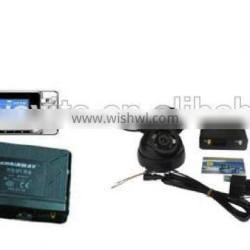 Auto Usage GPS tracker with camera and LCD screen, web software