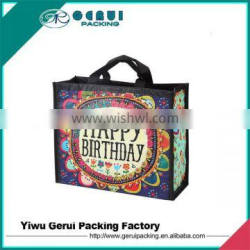 Full color printing RPET bag with lamination, pet lamination bag, full color bag