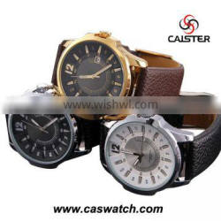new arrival leather strap men quartz watch cheap mens watches for promotion big face watches men leather band