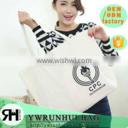 China Alibaba printed custom printed fodling shopping canvas bags