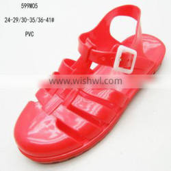 Simple PVC red jelly girls sandals 2016