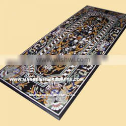 Rectangular Marble Inlay Dining Table Tops