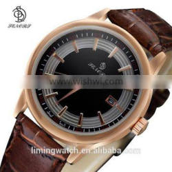 2015 oem custom logo watch rose gold stainless steel watches factory