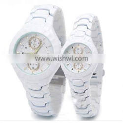 Hot sell high quality ceramic writs watch for lady and men ,water resistent ceramic watch