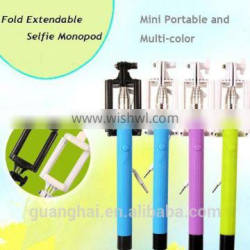 Mini Selfie Stick For Smartphone,Handheld phone holder Selfie Stick With Cable