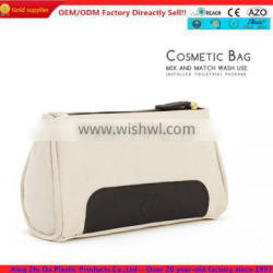 high quality white pu cosmetic pouch
