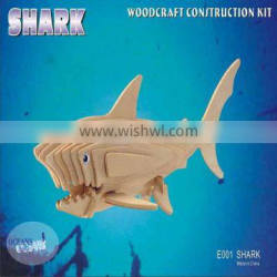 DIY Toy Style And Wood Material Jigsaw Puzzle - Shark
