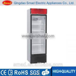 Transparent Glass Door Upright Fridge, Upright Refrigerated Showcase Quality Choice