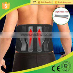 Black Breathable Lumbar Protector for Back Pain