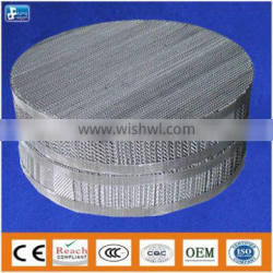 Metal wire gauze packing for absorption tower