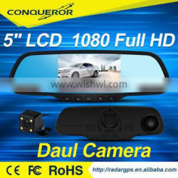 Conqueror HD 1080P Dual Lens Car Wireless Reversing Camera with Rearview Mirror