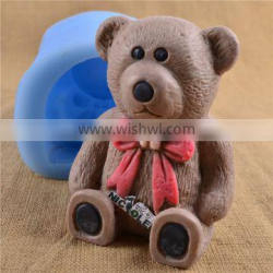 Heavy Duty 3D Bear Large Silicone Mold For Candle