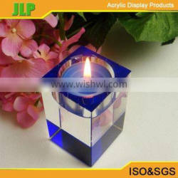 JLP Square tear drop glass candle holder, acrylic wedding candle holder