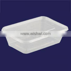 Safe food grade plastic disposable custom plastic microwave safe PP packaging boxes pp food box