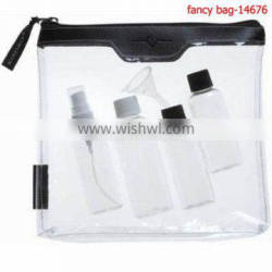 Transparent PVC Material And Bag Type Zipper Flat Cosmetic Bag