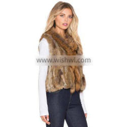 SJ325-01 Top Quality Cheap Natural Brown Furs Clothing Vests for Brazil
