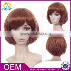 High quality brown blond pink Synthetic lace hair wig bob women short cheap wigs