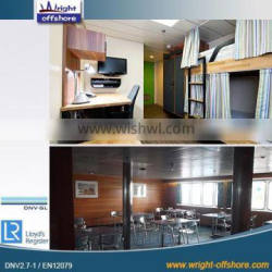Offshore Living Quarters/ Movable container house WRIGHT OFFSHORE DNV 2.1-1 / EN 12079