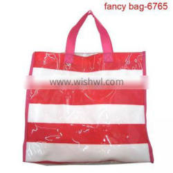 Wholesale Recyclable Custom Shiny Striated PVC shopping bag