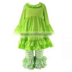Cute Cotton Outfits Girl children's boutique clothing wholesale girls outfits for fall