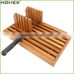 Bamboo Bread Slicer Toast Cutter Guide Homex BSCI/Factory